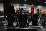 1938 Delahaye Type 135M Roadster by Figoni et Falaschi, at Petersen Automotive Museum, Los Angeles (5030)
