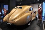 1937 Delage D-8 Coupe Aerosport by Latourneur et Marchand, at Petersen Automotive Museum, Los Angeles (5036)