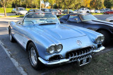 1959 Chevrolet Corvette, in parking lot (2756)
