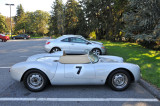 Porsche 550 Spyder replica, in parking lot (2765)
