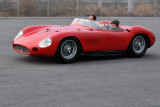 1956 Maserati 300S, with museum curator Kevin Kelly behind the wheel and former curator Sophia operating a camcorder (0195)