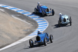 Three of 30 contestants in all-Bugatti vintage car race during 2010 Rolex Monterey Motorsports Reunion (3168)