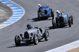 Three of 30 contestants in all-Bugatti vintage car race during 2010 Rolex Monterey Motorsports Reunion (3201)