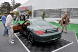 2011 Porsche Cayman S at Porsche's display area during the 2010 Pebble Beach Concours d'Elegance (3832)