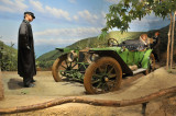 1911 American Underslung Model 50 Traveler in lifesize diorama at Petersen Automotive Museum in L.A. (4604)
