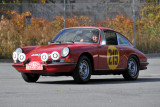 Racing legend Vic Elford drives re-creation of Porsche 911 he drove to victory in 1967 Monte Carlo Rally, Simeone Museum (6416)