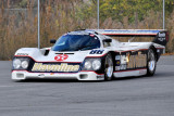 Vic Elford drives a private collector's Porsche 962 at Simeone Automotive Museum's parking lot (6435)