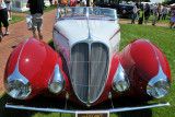 1937 Delahaye 135M Torpedo Cabriolet by Figoni & Falaschi, owned by Mark Hyman, at The Elegance at Hershey 2012 (4049)