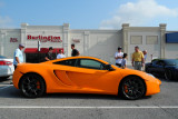 2012 McLaren MP4-12C, with mid-2000s Ferrari F430 at extreme right (4117)