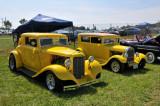 From left, DeSoto custom coupe and 1928 Ford custom sedan (5252)