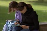 Studying In The Minster Gardens