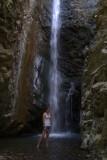 Posing At A Waterfall