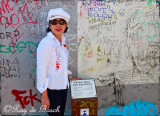 Pose at the Berlin Wall