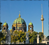 Berliner Dom with Fernsehturm ( Television Tower on Alexander Platz) on the right