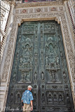 A sculptured door at the Basilica di Santa Maria del Fiore, Florence