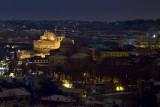 Vista di Castel Sant'Angelo dal Gianicolo.