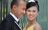 Newlyweds in Hanoi, Vietnam