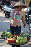 fruit vendor in Hanoi, Vietnam