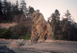 at the window rock, Ruby Beach, Washington