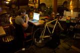 Man with Bike at Kopi