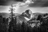 Halfdome from Olmstead Point B&W
