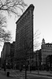 Flat Iron at Dawn Black and White 1