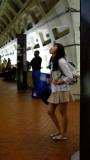 Waiting at Metro Center