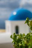 Santorini Blue Bokeh