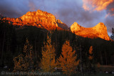 Stormy Sunrise over the Three Sisters