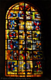 Leaded glass window in the Church of Saint Nicholas
