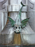 Strøget fountain dragon