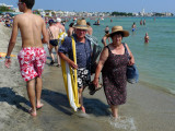 Italians at beach