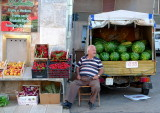 The seller of watermelons