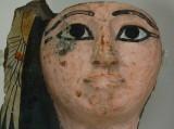 Painted mummy mask