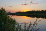 By the Lake Park Sunset   Wetaskiwin
