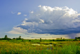 Storm Clouds on the Prairies Near Wetaskiwin