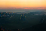 Luxembourg, runway 06 at sunrise