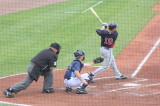 Danny Valencia drive in a run with a double to left