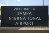 Tampa International Airport Entrance Sign