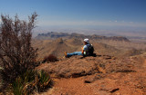 viewing Chihuahuan desert from South Rim