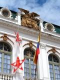 Emblem and Flag on Palacio Municipal.jpg