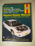New Haynes Repair Manual - 1993-1997 Chrysler, Dodge & Eagle Cars - $3.00 - Soft Bound Book approx. 5/8 thick.