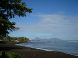 Black sand beach - Tahiti