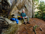 Lunch in solitude on Swift Camp Creek Trail