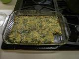 Crustless Spinach and Mushroom Pie