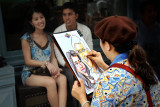 Have your portraits caricatured