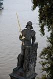 statue near Charles Bridge