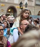 little girl watching Astronomical Clock