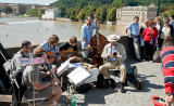 Dixieland band on Charles Bridge