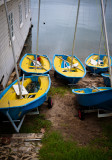 Little Blue and Yellow Boats